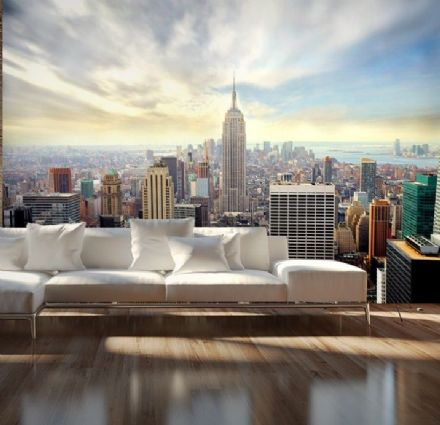 New York skyline wall murals